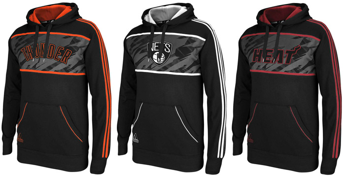 adidas NBA Stacked Fleece Hoodies | SportFits.com