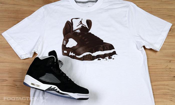 """Air Jordan 5 """"Oreo"""" x Jordan Retro 5 Oreo T-Shirt ..."""
