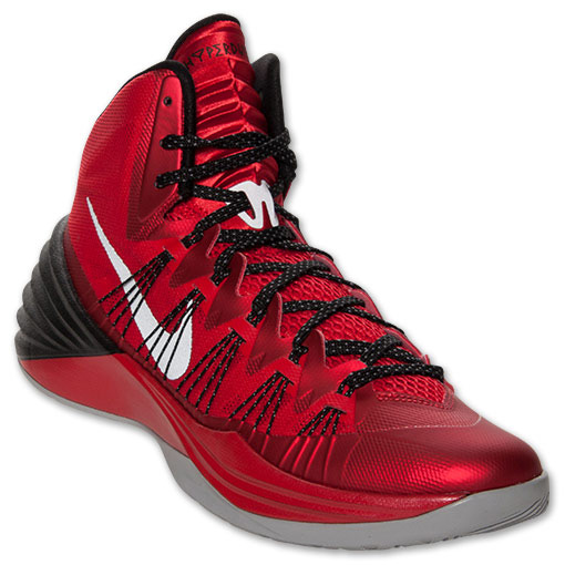 Nike Hyperdunk 2013 \u2013 University Red/Black/Wolf Grey
