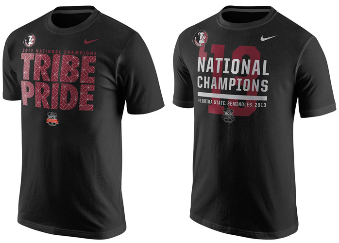 Nike florida state seminoles 2013 national championship t for National championship t shirts