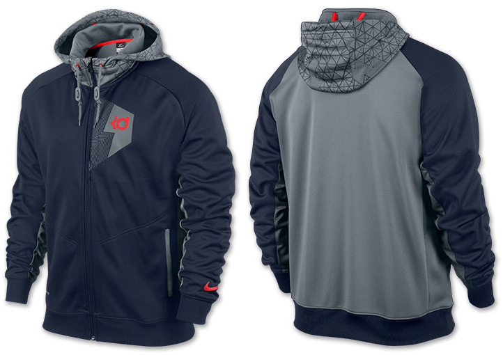 Nike KD Three Five Hero Hoodie Obsidian Cool Grey | SportFits.com