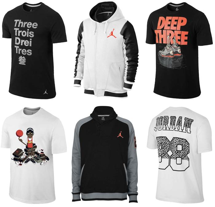Air Jordan 3 Infrared 23 Clothing Shirts and Shorts | SportFits.com