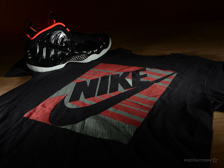 Nike Air Foamposite Pro Laser Crimson Shirt | SportFits.com