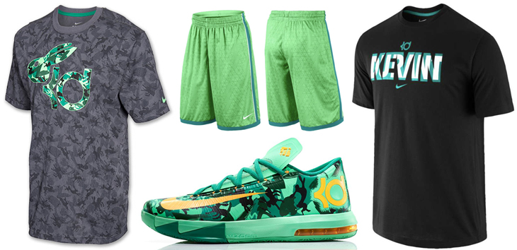 """Styles to Sport with the Nike KD VI """"Easter"""" Mixing in shades of green and grey to go with the Nike KD VI """"Easter Kevin Durant, Nike Basketball Easter Collection, Nike Clothing, Nike KD Clothing, Nike T-Shirts. Leave a Reply Cancel reply. Your email address will not be published."""