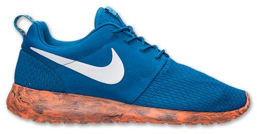 nike roshe run blue and orange