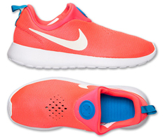 nike roshe run slip on laser crimson