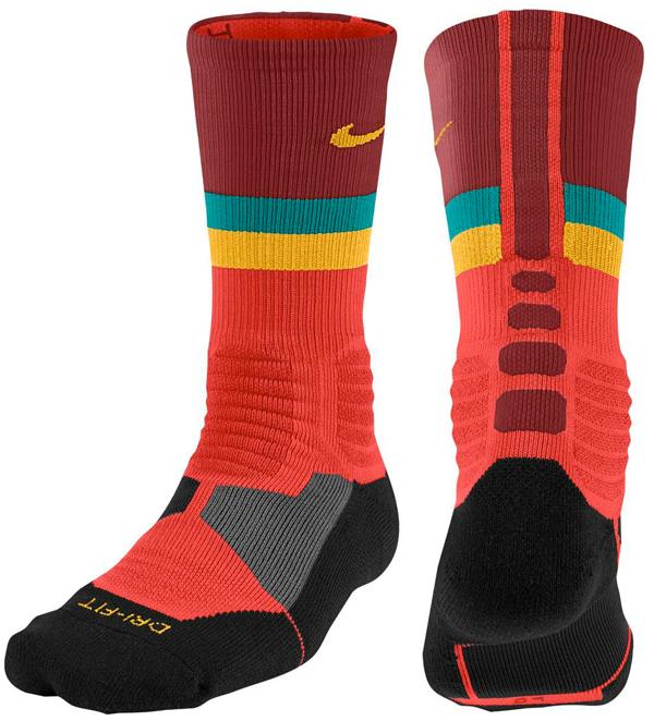 Nike Elite Socks Sharpie Nike-kd-6-elite-gold-socks-red
