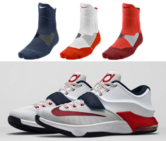 best sneakers 0b820 6492f kd 7 4th of july socks
