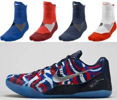sports shoes 62824 460dd kd 7 independence day socks