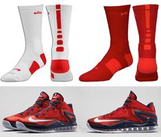Nike Socks to Sport with the Nike LeBron 11 Low \u201cJuly 4th\u201d