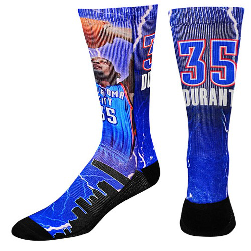 kevin durant nba storm basketball socks sportfitscom
