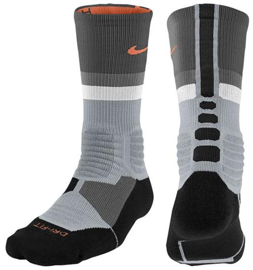 buy online 03013 17b61 ... nike-hyper-elite-fanatical-socks-grey-mango-black  Nike KD 7 ...