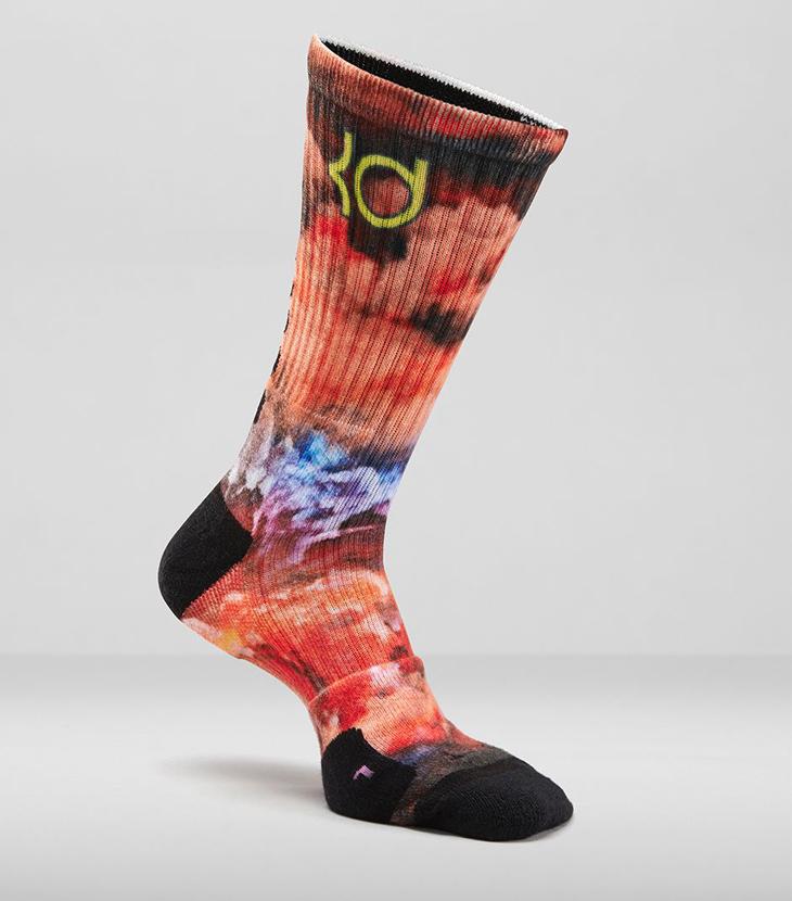 nike kd 7 35000 degrees digital ink basketball socks