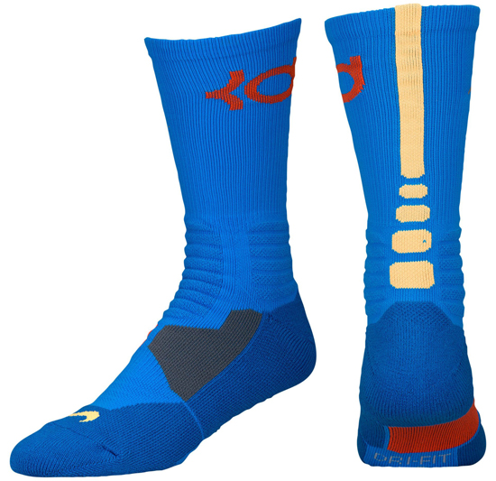 1 Pair of Black and Orange KD socks. Up for sale is a pair of 8 Nike elite socks in vary styles. 6 of the 8 are size and two of the socks are size 1 Pair Nike Hyper Elite White/Purple/Grey.