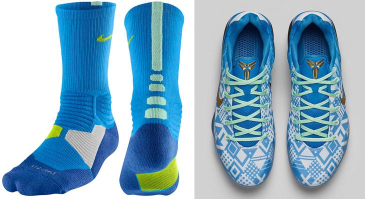 Nike Kobe 9 Hyper Cobalt Socks - 262.1KB