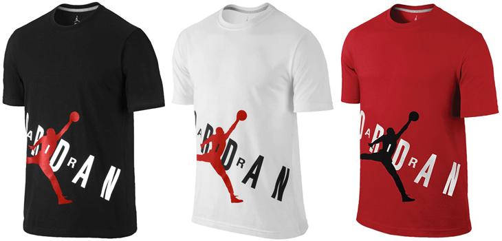 Red And White Jordan Shirt Jordan-aj-bold-black-red-shirt