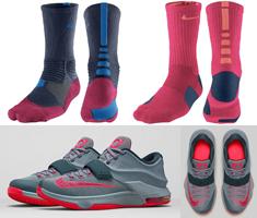 Nike Socks to Sport with the Nike KD 7 \u201cCalm Before the Storm\u201d