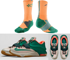 Nike KD Socks to Sport with the Nike KD 7 \u201cEasy Money\u201d