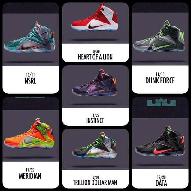 all lebron shoes list