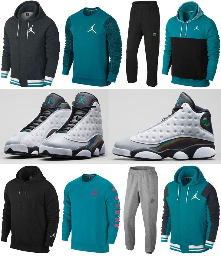 Air Jordan 13 Wolf Grey Barons Clothing and Apparel | SportFits.com