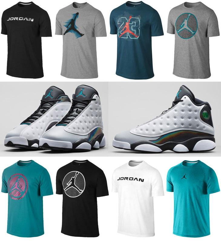Air Jordan 13 Wolf Grey Hologram Barons Shirts | SportFits.com