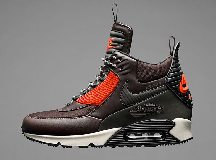 Nike Air Max 90 SneakerBoot Velvet Brown Hyper Crimson | SportFits.com