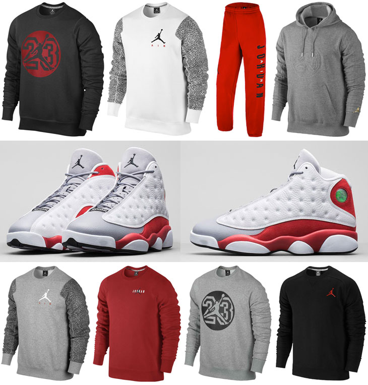 Air Jordan 13 Grey Toe Clothing | SportFits.com