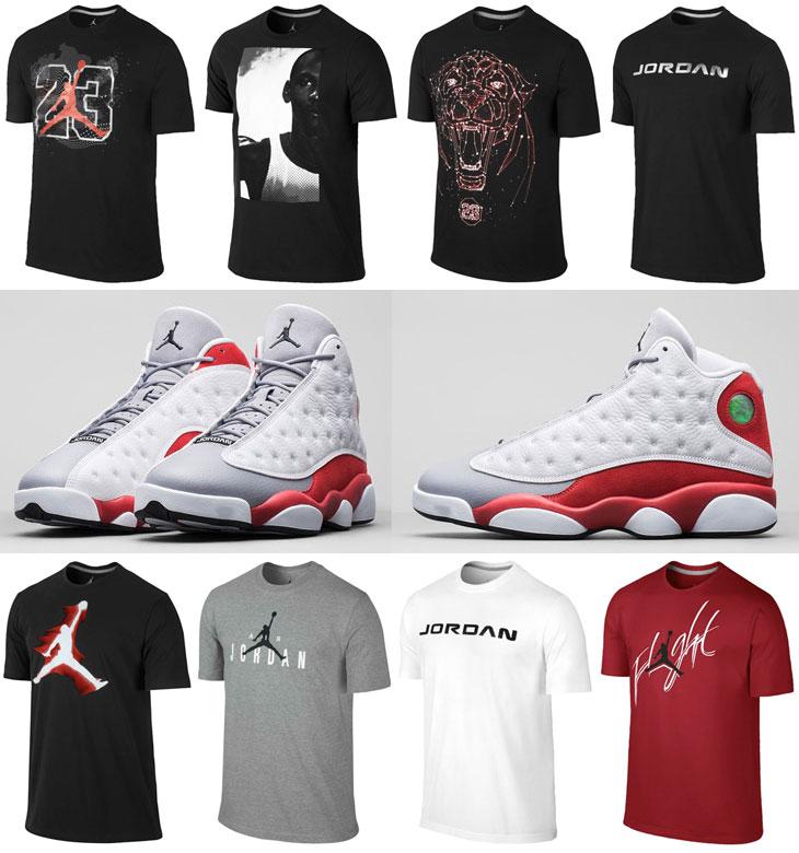 Air Jordan 13 Grey Toe Shirts | SportFits.com