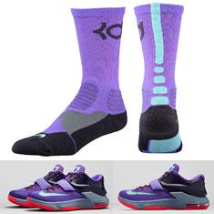 Nike KD Hyper Elite Socks to Wear with the Nike KD 7 \u201cLightning 534\