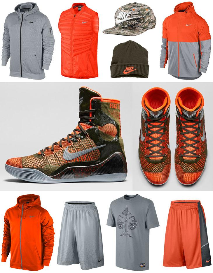 Nike Kobe 9 Elite Sequoia Clothing Shirts Shorts Hats Socks | SportFits.com