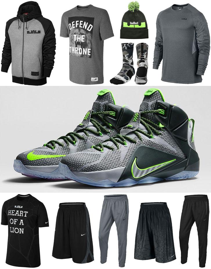 nike lebron 12 dunk clothing apparel shirts and
