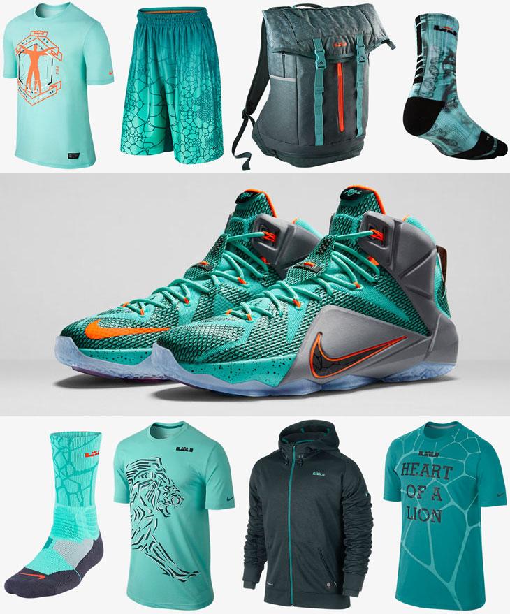 Nike LEBRON 12 NSRL Clothing Apparel Shirts | SportFits.com