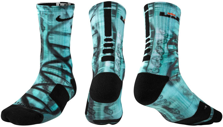 Nike LeBron Socks to Wear with the Nike LEBRON 12 NSRL | SportFits.com