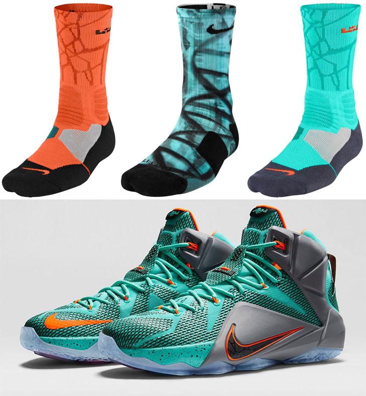newest e5e85 409d0 Nike LeBron Socks to Wear with the Nike LEBRON 12 NSRL . Nike LeBron 12 23  Lebron 12 23 Chromosomes ...