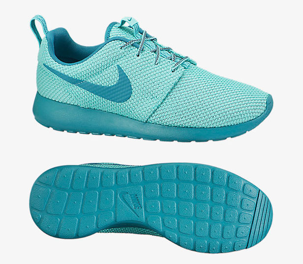 Nike Roshe Courir Chaussures Hommes Turquoise Blanchies / Catalina
