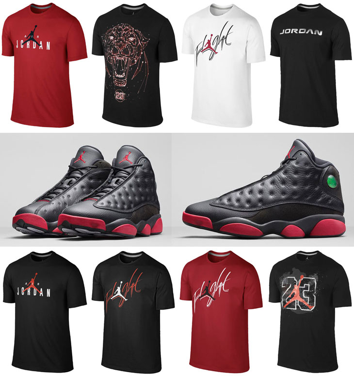Air Jordan 13 Black Gym Red Shirts | SportFits.com