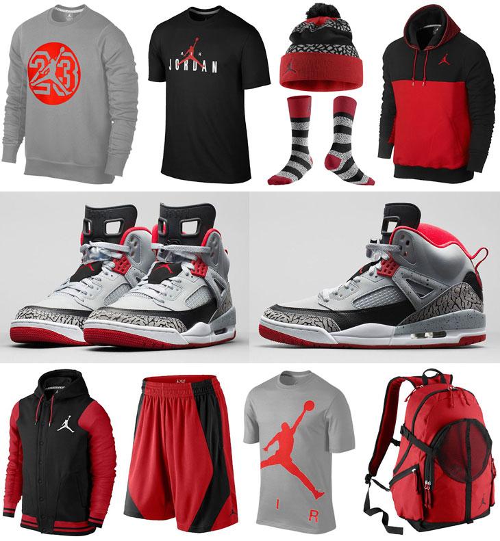 Jordan Spizike Wolf Grey Clothing Shirts Socks Hats | SportFits.com