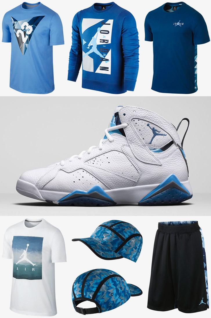 Air Jordan 7 French Blue Clothing and Apparel | SportFits.com