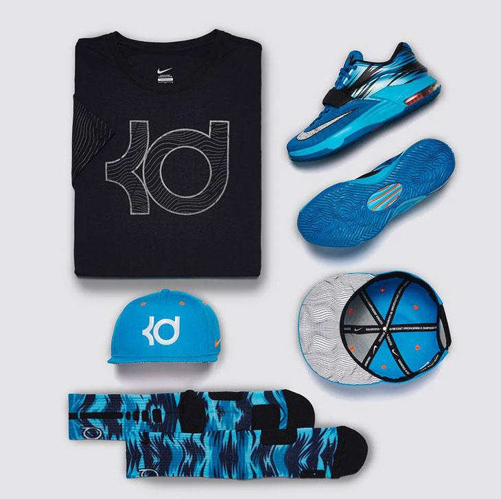 Nike KD 7 Lacquer Blue Road Camo Clothing and Apparel | SportFits.com