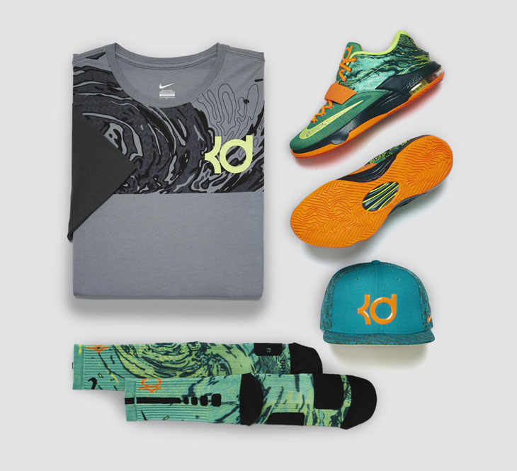 Nike kd 7 weatherman clothing collection for Kevin durant weatherman shirt