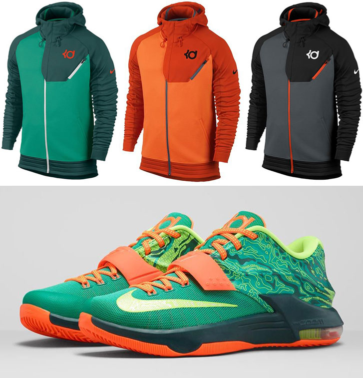 Nike kd hoodies to wear with the nike kd 7 weatherman for Kevin durant weatherman shirt