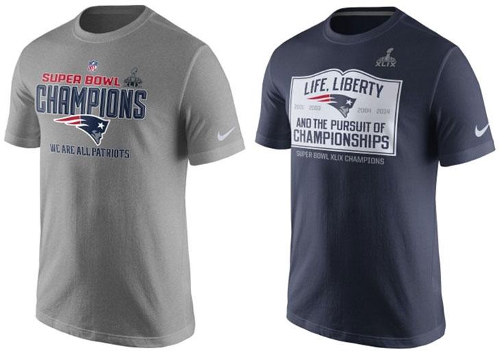 Nike new england patriots super bowl xlix nfl champion for New england patriots mens shirts
