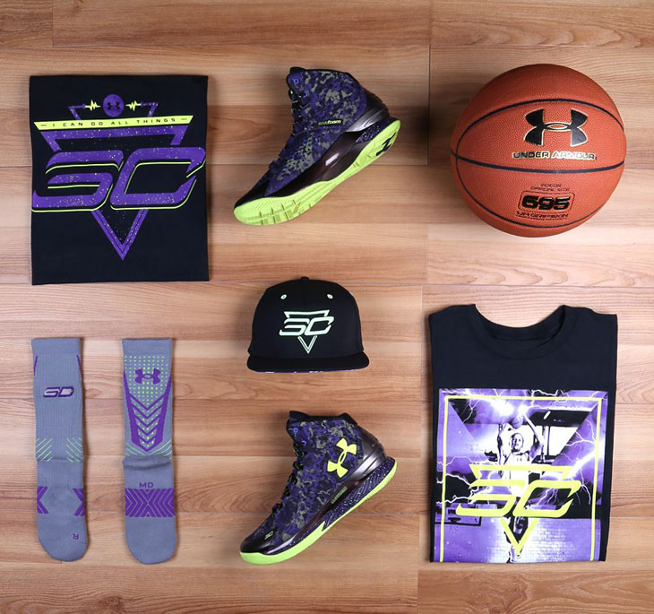 Under Armour Curry One Dark Matter Clothing Shirts Socks ...