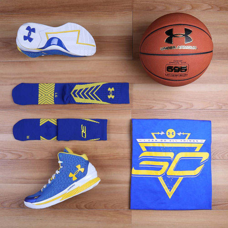 Under Armour Curry One Home Clothing Shirt Socks