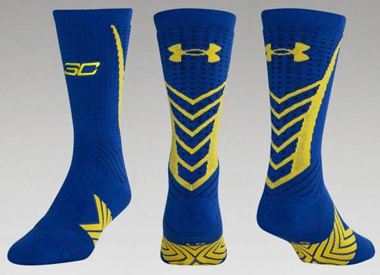 Blue under armour basketball socks