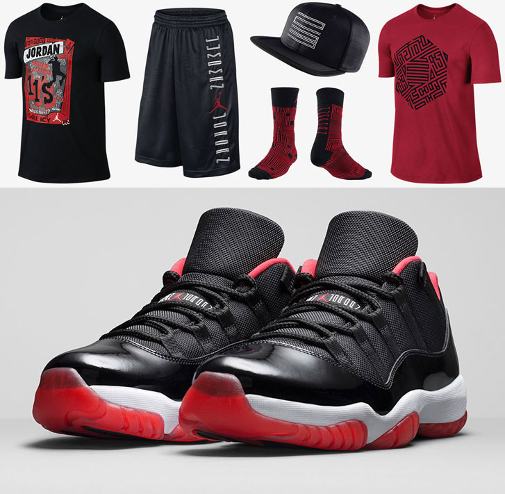 Air Jordan 11 Low Bred Clothing and Shoes | SportFits.com