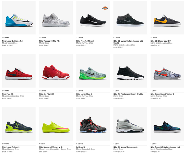 discounted nike sneakers
