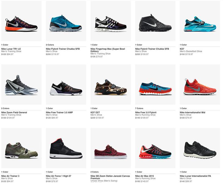 clearance nike sneakers