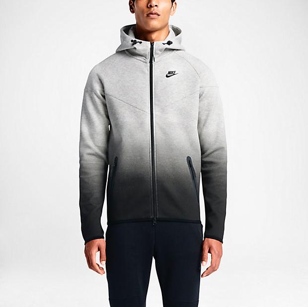 nike tech fleece fade windrunner hoodie black grey c61c6e617e00