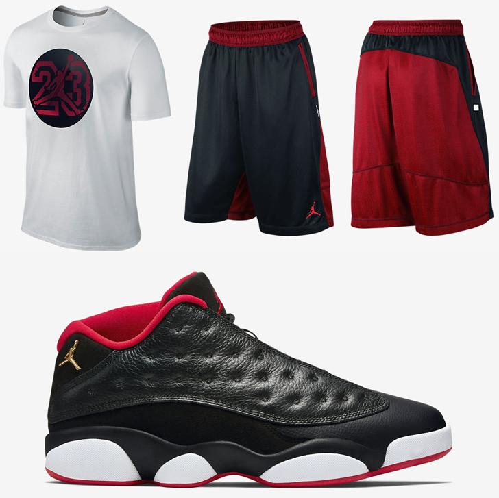 Air Jordan 13 Low Bred Shirt And Shorts | SportFits.com